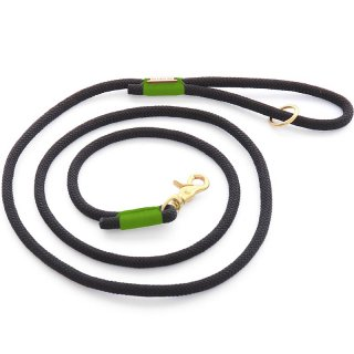 <img class='new_mark_img1' src='//img.shop-pro.jp/img/new/icons14.gif' style='border:none;display:inline;margin:0px;padding:0px;width:auto;' />Black and Green climbing rope dog leash (ブラック&グリーン・クライミングロープ・ドッグ・リーシュ)