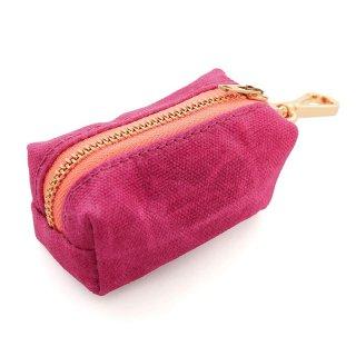 Hot Pink Waxed Canvas Waste Bag Dispenser (ホットピンク・ワックスド・キャンバス・ウエィスト・バッグ・ディスペンサー)