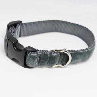 Earl Grey Velvet Dog Collar (アールグレイ・ベルベット・ドッグ・カラー)