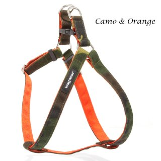 <img class='new_mark_img1' src='https://img.shop-pro.jp/img/new/icons57.gif' style='border:none;display:inline;margin:0px;padding:0px;width:auto;' />Cordura Step-In Harness, Camouflage/Orange (コーデュラ・ステップイン・ハーネス, カモ/オレンジ)