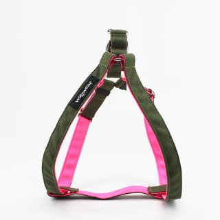 <img class='new_mark_img1' src='https://img.shop-pro.jp/img/new/icons57.gif' style='border:none;display:inline;margin:0px;padding:0px;width:auto;' />Cordura Step-In Harness, Olive/Neon Pink (コーデュラ・ステップイン・ハーネス, オリーブ/ネオンピンク)
