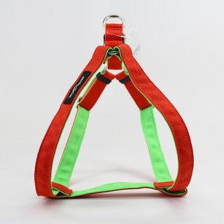 <img class='new_mark_img1' src='https://img.shop-pro.jp/img/new/icons57.gif' style='border:none;display:inline;margin:0px;padding:0px;width:auto;' />Cordura Step-In Harness, Orange/Neon Green (コーデュラ・ステップイン・ハーネス, オレンジ/ネオングリーン)