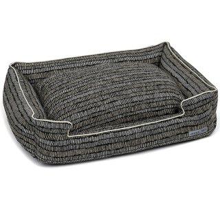 Scribble Black Textured Woven Lounge Bed ( スクリィブル・ブラック・ラウンジ・ベッド)