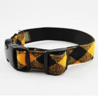 Buffalo Plaid Dog Collar/Yellow (バッファロー・プレイド・ドッグ・カラー/イエロー)