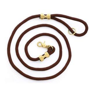 Walnut Marine Rope Dog Leash (ウォルナット・マリンロープ・ドッグ・リーシュ)