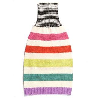 <img class='new_mark_img1' src='https://img.shop-pro.jp/img/new/icons14.gif' style='border:none;display:inline;margin:0px;padding:0px;width:auto;' />Light Rainbow Stripe Merino Wool Knit Sweater (ライト・レインボー・ストライプ・メリノウール・ニットセーター)