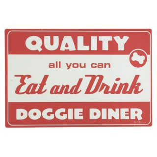 Diner Dog Placemat, Red (ディナー・ドッグ・プレイスマット, レッド)