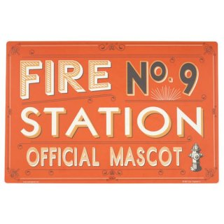 Fire Station No. 9 Pet Placemat (ファイアー・ステーション No.9 ペット・プレイスマット)