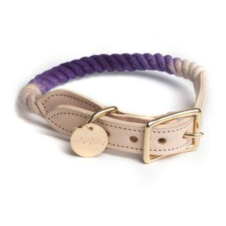 <img class='new_mark_img1' src='//img.shop-pro.jp/img/new/icons34.gif' style='border:none;display:inline;margin:0px;padding:0px;width:auto;' />Purple Ombre Rope Cat & Dog Collar (パープル・オンブレ・ロープ・キャット & ドッグ・カラー)