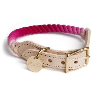 <img class='new_mark_img1' src='//img.shop-pro.jp/img/new/icons34.gif' style='border:none;display:inline;margin:0px;padding:0px;width:auto;' />Magenta Ombre Rope Cat & Dog Collar (マゼンタ・オンブレ・ロープ・キャット & ドッグ・カラー)