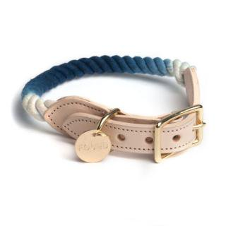 <img class='new_mark_img1' src='//img.shop-pro.jp/img/new/icons34.gif' style='border:none;display:inline;margin:0px;padding:0px;width:auto;' />Indigo Ombre Rope Cat & Dog Collar (インディゴ・オンブレ・ロープ・キャット & ドッグ・カラー)