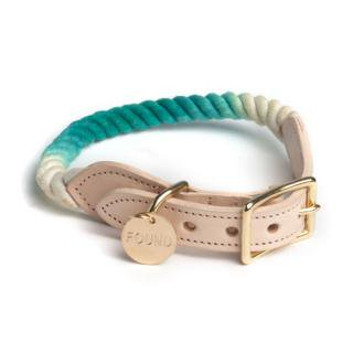 <img class='new_mark_img1' src='//img.shop-pro.jp/img/new/icons34.gif' style='border:none;display:inline;margin:0px;padding:0px;width:auto;' />Teal Ombre Rope Cat & Dog Collar (ティール・オンブレ・ロープ・キャット & ドッグ・カラー)