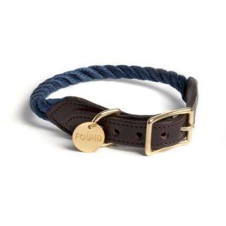 <img class='new_mark_img1' src='//img.shop-pro.jp/img/new/icons34.gif' style='border:none;display:inline;margin:0px;padding:0px;width:auto;' />Navy Rope Cat & Dog Collar (ネイビー・ロープ・キャット & ドッグ・カラー)