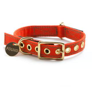 <img class='new_mark_img1' src='//img.shop-pro.jp/img/new/icons34.gif' style='border:none;display:inline;margin:0px;padding:0px;width:auto;' />Orange Waxed Cotton Canvas Dog Collar (オレンジ・ワックス・コットン・キャンバス・ドッグ・カラー)