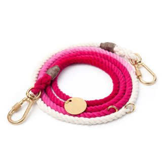 <img class='new_mark_img1' src='//img.shop-pro.jp/img/new/icons57.gif' style='border:none;display:inline;margin:0px;padding:0px;width:auto;' />Magenta Ombre Rope Dog Leash, Adjustable (マゼンタ・オンブレ・ロープ・ドッグ・リーシュ, アジャスタブル)