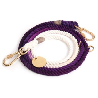 <img class='new_mark_img1' src='//img.shop-pro.jp/img/new/icons57.gif' style='border:none;display:inline;margin:0px;padding:0px;width:auto;' />Purple Ombre Rope Dog Leash, Adjustable (パープル・オンブレ・ロープ・ドッグ・リーシュ, アジャスタブル)