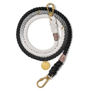 <img class='new_mark_img1' src='//img.shop-pro.jp/img/new/icons39.gif' style='border:none;display:inline;margin:0px;padding:0px;width:auto;' />Black Ombre Rope Dog Leash, Adjustable (ブラック・オンブレ・ロープ・ドッグ・リーシュ, アジャスタブル)