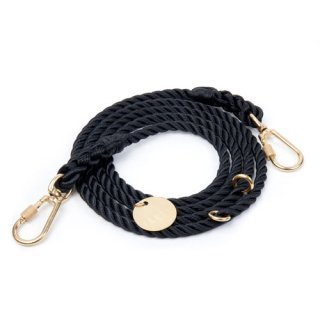 <img class='new_mark_img1' src='//img.shop-pro.jp/img/new/icons39.gif' style='border:none;display:inline;margin:0px;padding:0px;width:auto;' />Black Rope Dog Leash, Adjustable (ブラック・ロープ・ドッグ・リーシュ, アジャスタブル)