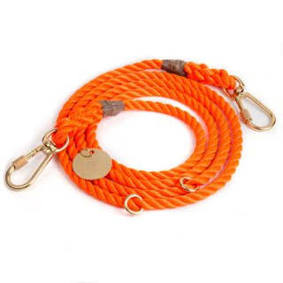 <img class='new_mark_img1' src='//img.shop-pro.jp/img/new/icons57.gif' style='border:none;display:inline;margin:0px;padding:0px;width:auto;' />Orange Rope Rescue Dog Leash, Adjustable (オレンジ・ロープ・レスキュー・ドッグ・リーシュ, アジャスタブル)