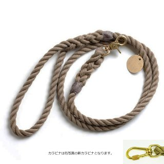 <img class='new_mark_img1' src='//img.shop-pro.jp/img/new/icons51.gif' style='border:none;display:inline;margin:0px;padding:0px;width:auto;' />Dark Tan Rope Dog Leash, Standard (ダーク・タン・ロープ・ドッグ・リーシュ, スタンダード)