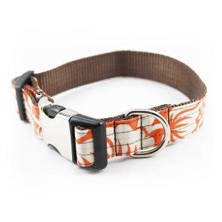 Marigold Laminated Cotton Dog Collar (マリーゴールド・ラミネート・コットン・ドッグ・カラー)