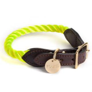 <img class='new_mark_img1' src='//img.shop-pro.jp/img/new/icons34.gif' style='border:none;display:inline;margin:0px;padding:0px;width:auto;' />Neon Yellow Rope Cat & Dog Collar (ネオン・イエロー・ロープ・キャット & ドッグ・カラー)