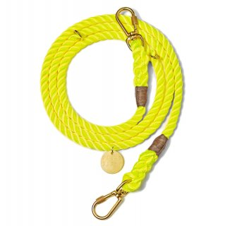 <img class='new_mark_img1' src='//img.shop-pro.jp/img/new/icons39.gif' style='border:none;display:inline;margin:0px;padding:0px;width:auto;' />Neon Yellow Rope Dog Leash, Adjustable (ネオン・イエロー・ロープ・ドッグ・リーシュ, アジャスタブル)