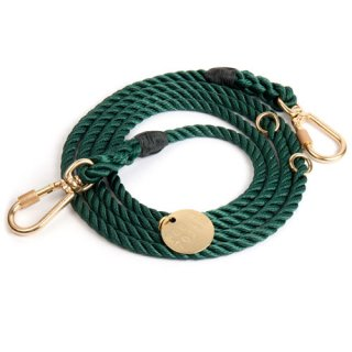 <img class='new_mark_img1' src='//img.shop-pro.jp/img/new/icons39.gif' style='border:none;display:inline;margin:0px;padding:0px;width:auto;' />Hunter Green Rope Dog Leash, Adjustable (ハンター・グリーン・ロープ・ドッグ・リーシュ, アジャスタブル)