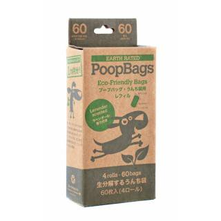 PoopBags Eco Refill Rolls (プープバッグ・エコ・レフィル)/交換用4ロール(60枚入)