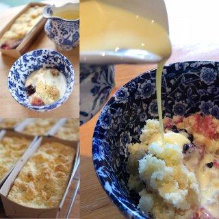 【お菓子の通販】Bramley apple & blackberry crumble「ブラムリーアップル&ブラックベリーのクランブル」