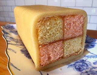 【お菓子の通販】Battenberg cake バッテンバーグ ケーキ 12cmのホールケーキ