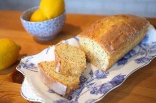 【お菓子の通販】Lemon & poppy seed drizzle cake レモン&ポピーシード 18cmのローフケーキ