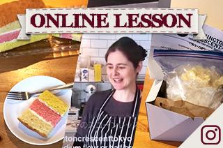 【オンラインレッスン&キット】イギリスのエンゼルケーキ Angel layer cake - Online Lesson & Kit(送料込み)6月17日から発送可能