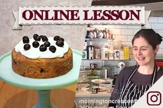 【オンラインレッスン】ブルーベリー&バニラケーキ Blueberry & vanilla cake - Online Lesson