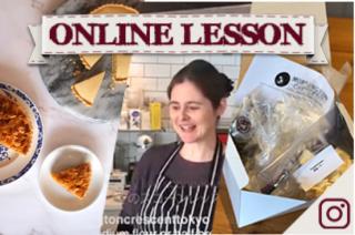 【オンラインレッスン&材料キット】ジプシータルト&コーンフレークタルト School dinner puddings - Lesson & kit(送料込み)5月12日発送