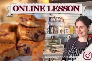 【オンラインレッスン】焦がしバターブロンディー brown butter blondies - Online Lesson