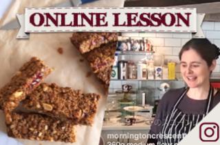 【オンラインレッスン】ピーナッツバター&ジャムフラップジャック!PB&J flapjacks - Online Lesson