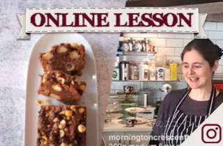 【オンラインレッスン】ブラムリーのヘーゼルナッツチョコケーキ Bramley & hazelnut choco cake - Online Lesson