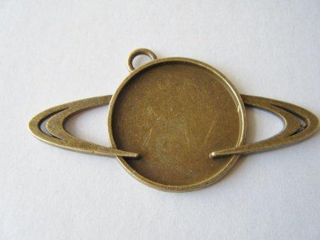 土星のミール皿 金古美