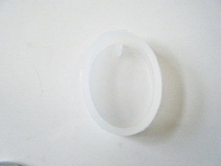 シリコンモールド シンプル 楕円 穴あき