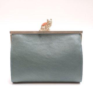 猫のピンクッションbag(S) ブルー