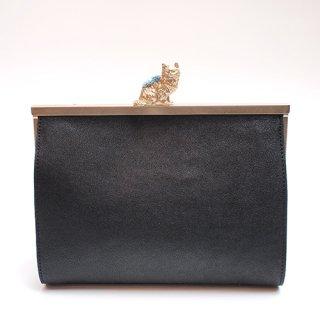 猫のピンクッションbag(S) ブラック