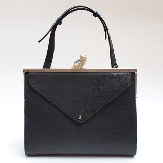 猫のピンクッションbag(L)レターポケット ブラック