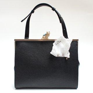 猫のピンクッションbag(L)ハンカチーフ ブラック