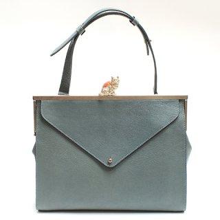 猫のピンクッションbag(L)レターポケット ブルー