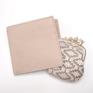 ガマグチ付き 折財布 アイボリー