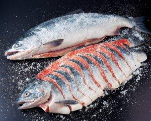天然塩紅鮭(大1尾)