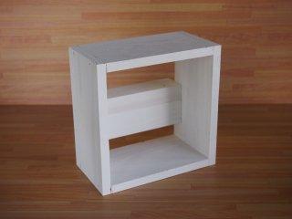 ミニボックス(ホワイト)※壁掛けすのこシェルフ用オプション