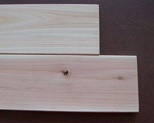 桧板、束売り(プレーナ仕上げ) 10x85x975(5本)