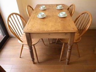 アンティークパイン 細身のW122テーブル